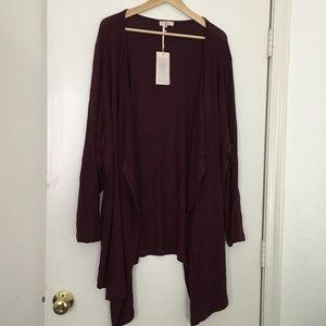 Navabi Amber&Vanilla drape front cardigan 3X/4X